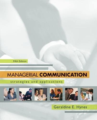 9780073377759: Managerial Communication:  Strategies and Applications