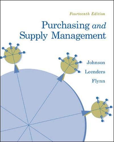9780073377896: Purchasing and Supply Management (The Mcgraw-hill/Irwin Series Operations and Decisions Sciences)