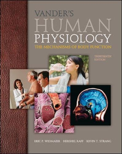 9780073378305: Vander's Human Physiology: The Mechanisms of Body Function