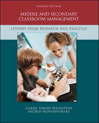 9780073378619: Middle and Secondary Classroom Management: Lessons from Research and Practice