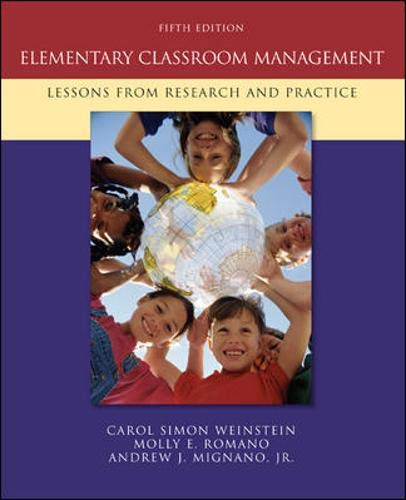 9780073378626: Elementary Classroom Management: Lessons from Research and Practice