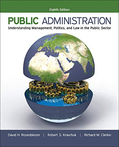 9780073379159: Public Administration: Understanding Management, Politics, and Law in the Public Sector