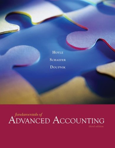 Fundamentals of Advanced Accounting: Hoyle, Joe Ben,