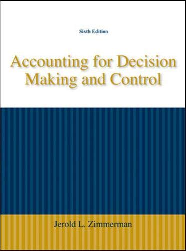9780073379487: Accounting for Decision Making and Control