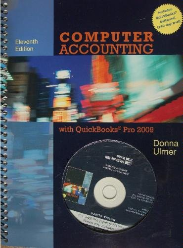 9780073379500: Computer Accounting With Quickbooks Pro 2009