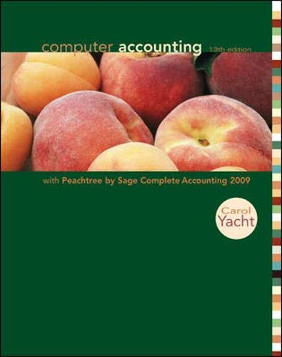 9780073379517: Computer Accounting with Peachtree Complete 2009, Release 16.0