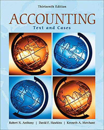 Accounting: Texts and Cases: Anthony, Robert N;