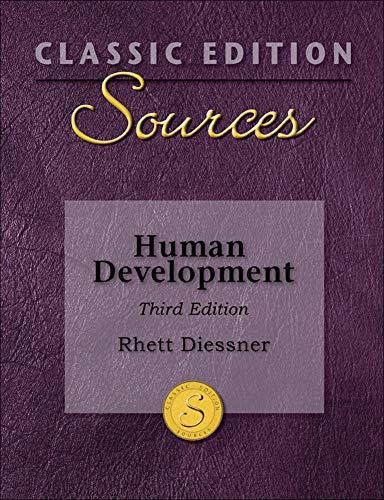 Classic Edition Sources: Human Development: Diessner, Rhett