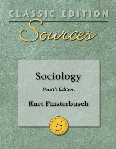 9780073379807: Classic Edition Sources: Sociology