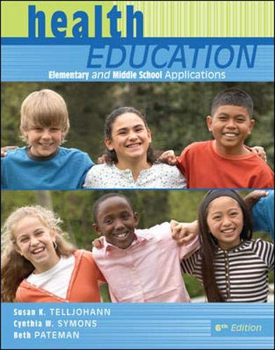 9780073380803: Health Education: Elementary and Middle School Applications