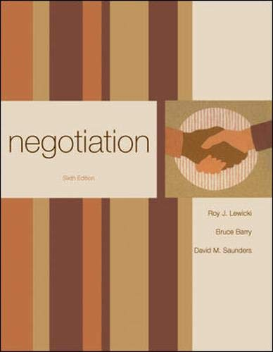 9780073381206: Negotiation
