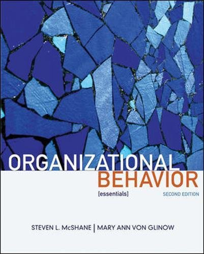 9780073381220: Organizational Behavior:  [essentials] (Essentials of)