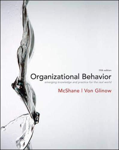 9780073381237: Organizational Behavior