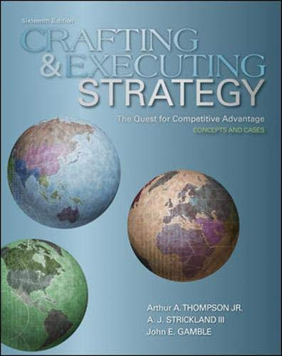 9780073381244: Crafting and Executing Strategy: The Quest for Competitive Advantage:  Concepts and Cases