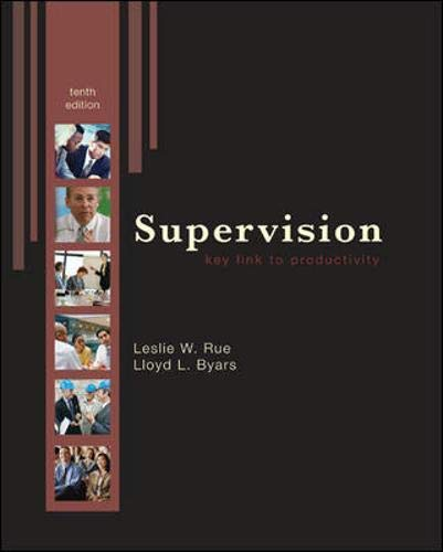 9780073381374: Supervision: Key Link to Productivity