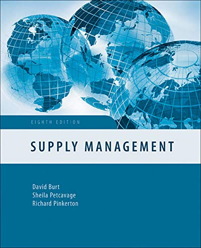 9780073381459: Supply Management (Irwin Operations/Decision Sciences)