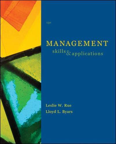 Management: Skills and Application: Leslie Rue, Lloyd