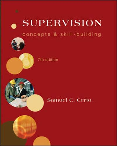 9780073381510: Supervision: Concepts and Skill-Building