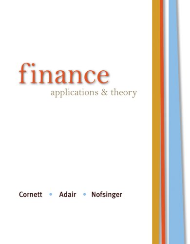 9780073382258: Finance: Applications and Theory (McGraw-Hill/Irwin Series in Finance, Insurance and Real Estate (Hardcover))