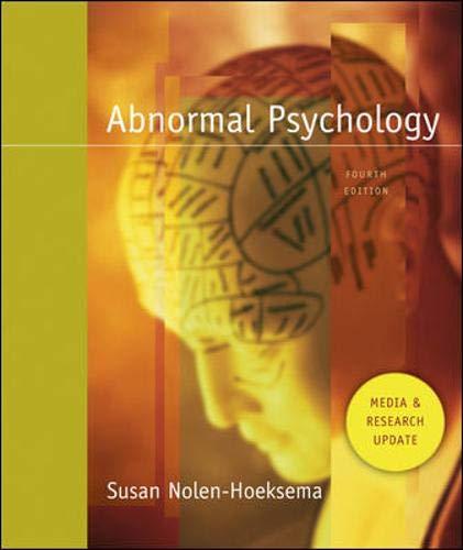 9780073382586: Abnormal Psych Med/Resch Ud