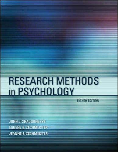 9780073382692: Research Methods In Psychology