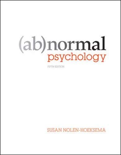Abnormal Psychology: Susan Nolen-Hoeksema