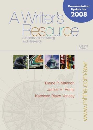 9780073383699: A Writer's Resource- Mla / Apa / Cse Update
