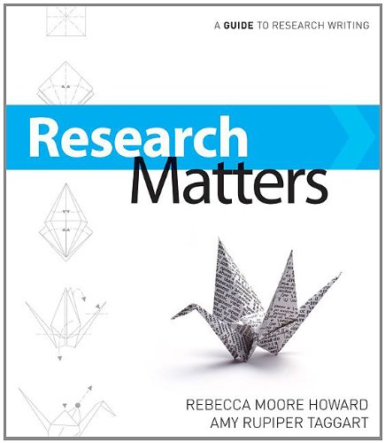 9780073383743: Research Matters: A Guide To Research Writing
