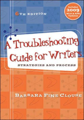 9780073383835: A Troubleshooting Guide for Writers: Strategies and Process