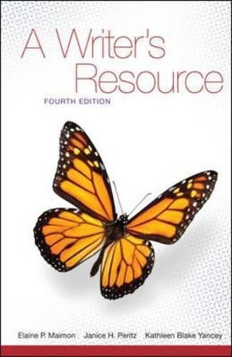 9780073384030: A Writer's Resource, 4th Edition