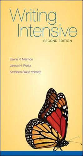 Writing Intensive: Maimon, Elaine; Peritz,