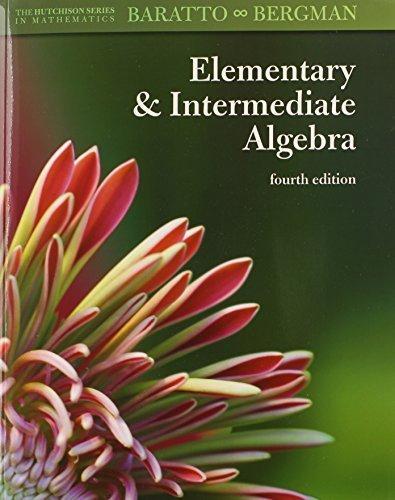 9780073384191: Hutchison's Elementary and Intermediate Algebra