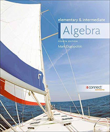 9780073384351: Elementary and Intermediate Algebra