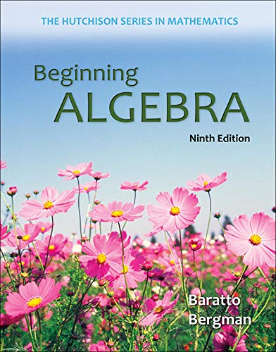 Beginning Algebra (Hutchison Series on Mathematics): Baratto, Stefan; Bergman,