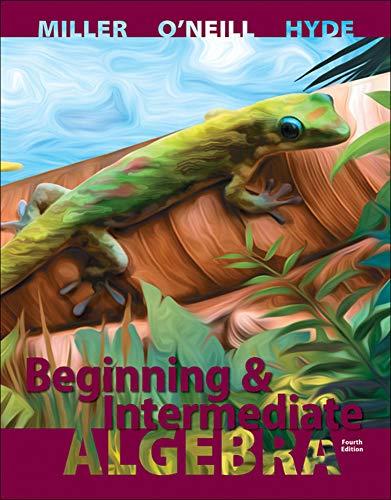 9780073384511: Beginning and Intermediate Algebra