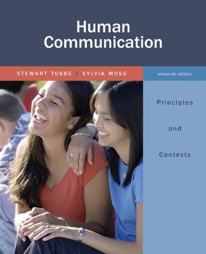 Human communication: principles and contexts: stewart tubbs.
