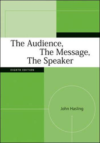 9780073385044: The Audience, The Message, The Speaker