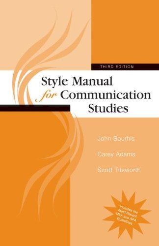 9780073385051: Style Manual for Communication Studies
