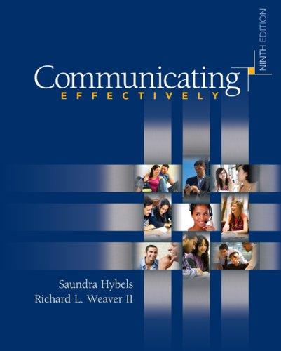 9780073385099: Communicating Effectively