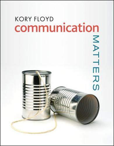 9780073385112: Communication Matters