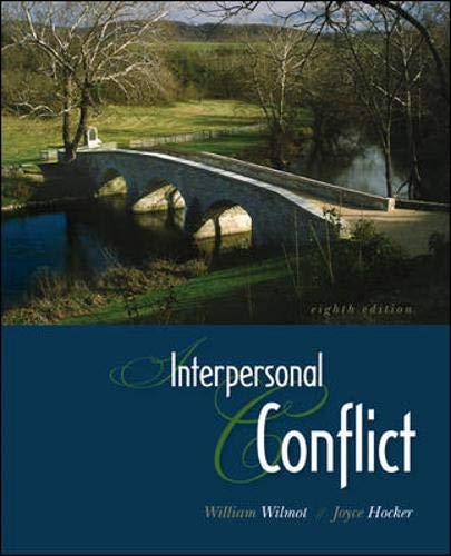 9780073385136: Interpersonal Conflict