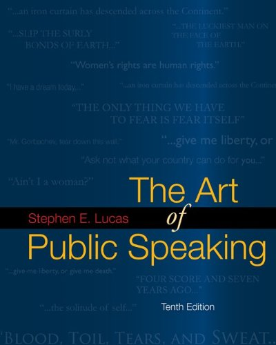 9780073385150: The Art of Public Speaking, 10th Edition