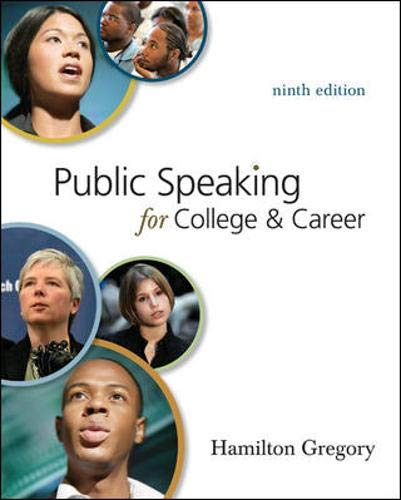 9780073385167: Public Speaking for College and Career