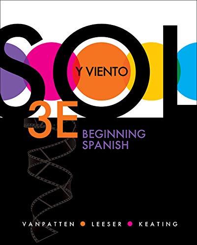 9780073385297: Sol y viento: Beginning Spanish (Quia)