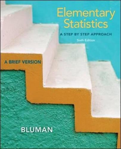 9780073386119: Elementary Statistics: A Step by Step Approach-A Brief Version, 6th Edition (With Data CD)