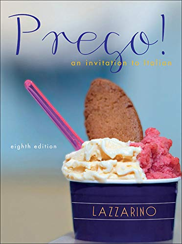 9780073386256: Prego! An Invitation to Italian, 8th Edition