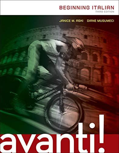 9780073386263: AVANTI: BEGINNING ITALIAN