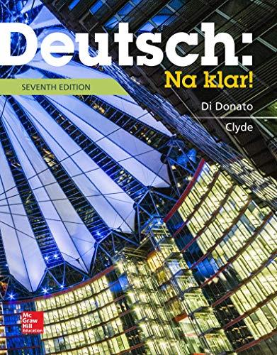 Deutsch - Na Klar!: An Introductory German: Donato, Robert Di