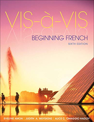 Vis-a`-Vis: Beginning French, 6th Edition (English and: Amon, Evelyne, Muyskens