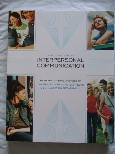 9780073388069: Introduction to Interpersonal Communication (Custom Edition/material added for UNLV)
